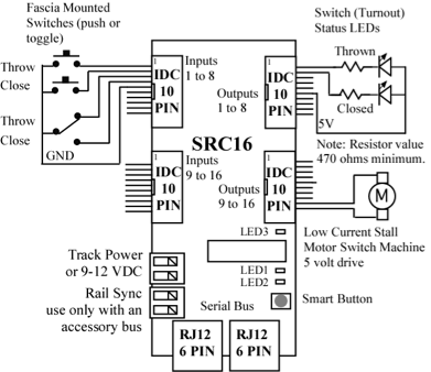 TeamDigitalDCCAccessoryDecoderSRC162 SwitchandRouteController on atlas controller wiring diagram